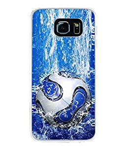 PrintVisa Splashing Football High Gloss Designer Back Case Cover for Samsung Galaxy S6 Edge+ :: Samsung Galaxy S6 Edge Plus :: Samsung Galaxy S6 Edge+ G928G :: Samsung Galaxy S6 Edge+ G928F G928T G928A G928I