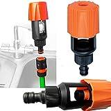 Tubo da giardino, per cucina, rubinetto universale caricabatteria/adattatore per tubo flessibile rubinetto connettore tubo flessibile accoppiamento 4.5 x 2 x 2inch Come da immagine