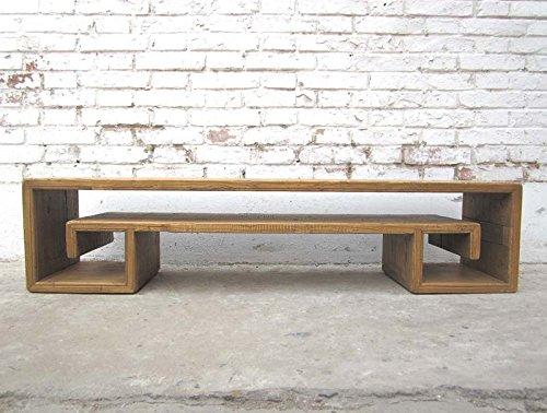Luxury-Park China 1910 sehr flache individuelle Anrichte Lowboard für TV Flatscreen Ulme natur Landhausstil