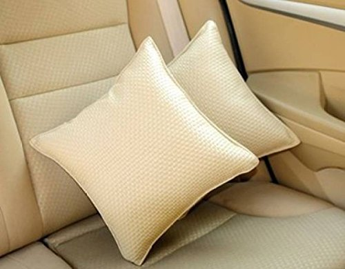 Pegasus Premium Leatherite Car Pillow Cushion For Honda Amaze (Rectangular, Pack of 2)  available at amazon for Rs.699