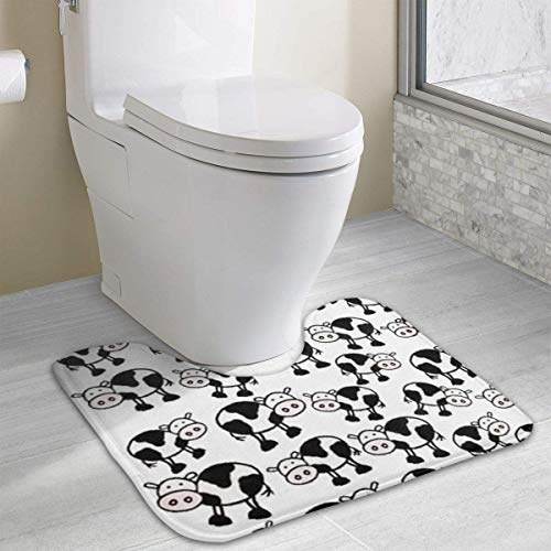 Hoklcvd Kuh Rutschfeste Kontur Badematte für WC, saugfähiges Wasser, perfekt für Badezimmer. Kaufen Sie online Badematten zu den besten Preisen - Elch Wc