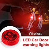 YAYONG 2Pcs praktische Red Bulb Door Safely Open Wireless Car Warning Light LED Flash Lampe