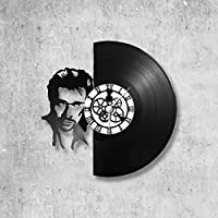 Horloge murale en vinyle 33 tours fait-main/thème johnny hallyday, chanteur, musique, acteur, rock