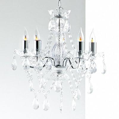Lüstern Leuchter Deckenlampe Hängeleuchter Kronleuchter 5-armig klar von design4home bei Lampenhans.de