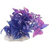 Sourcingmap Plástico Acuario Aquascape Hojas Agua Planta Decoración, Azul/Púrpura