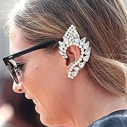 A&C Elf Ears Earrings For Women, Fashion Eardrop & Dangle For Women (Silver) (Just For Left Ear)