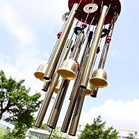 Cinese tradizionale stupefacenti 10 Tubi 5 campane di bronzo Yard Garden Outdoor Living Wind Chimes 85 centimetri può portare buona fortuna e ricchezza a te
