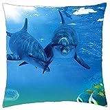 Delfine–Überwurf Kissenbezug Fall (45,7x 45,7cm)
