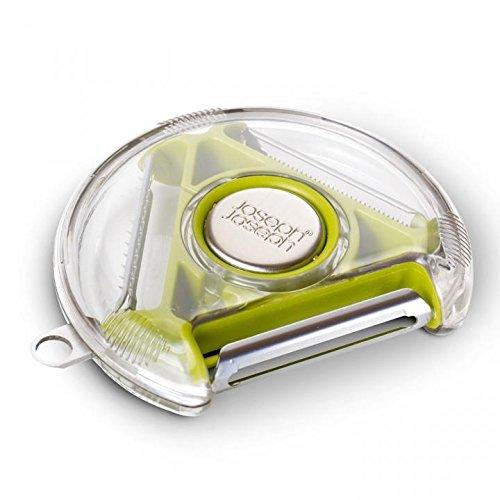 Shopizone 5 In 1 Multi Function Rotray Vegetable Fruit Peeler Knife Slicer Shredder Kitchen Salad Tool (Green)