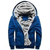 Panegy - Jungen Sweatshirt Sweatjacke Kapuzenpullover Kapuzenjacke für Herbst Winter Herren Dick Hoodie Sportjacke Baseball Jacke - Dunkelblau - Größe 5XL