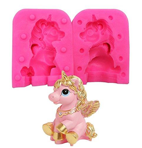 Moldes de unicornio de silicona para decoración de tartas, moldes de silicona para decoración de tartas y chocolate