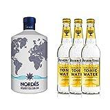 Nordés Atlantic Galician Gin (1 x 0,7l) inkl. Fever Tree Indian Tonic Water (3 x 500 ml)