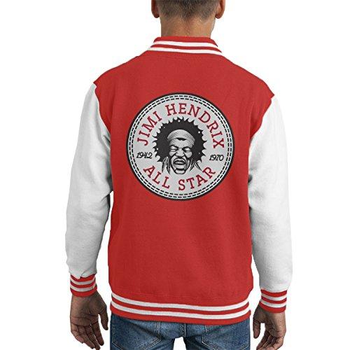 Jimi Hendrix All Star Converse Logo Kid's Varsity Jacket