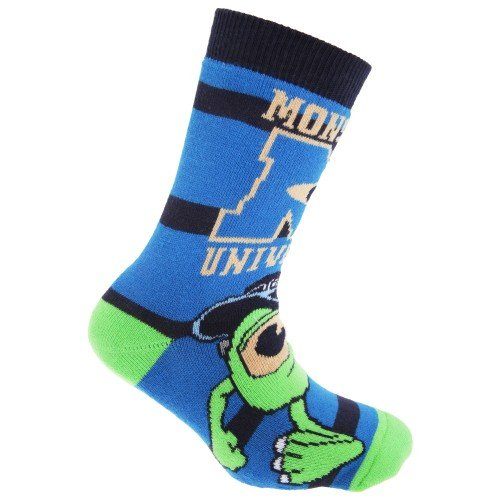Disney Monsters University - Calcetines zapatilla oficiales de University Official para niños (2 par)
