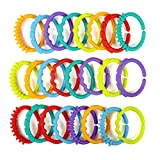 Winkey Baby Toys Rainbow QQ baby baby tooth Aprons clutch ring connecting ring