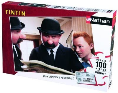 Nathan - 86705 - Puzzle Classique - 100 Pièces Pièces Pièces - Tintin et Les Dupond et Dupont | Un Design Moderne  be3fff