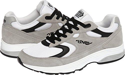 SNRD - 714 unisexe incurvé Baskets chaussures de sport Gris - Gray Black