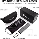 Verdster TourDePro POLARISED Sunglasses For Men and Women - Great for Driving, Fishing, Scooter - UV Protected, Enhanced Comfortable Wraparound Frame - Case, Pouch & Cleaning Cloth Incl