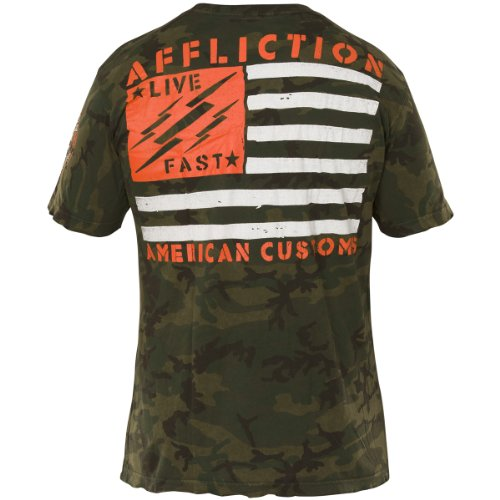 Affliction T-Shirt Major Rager Grün