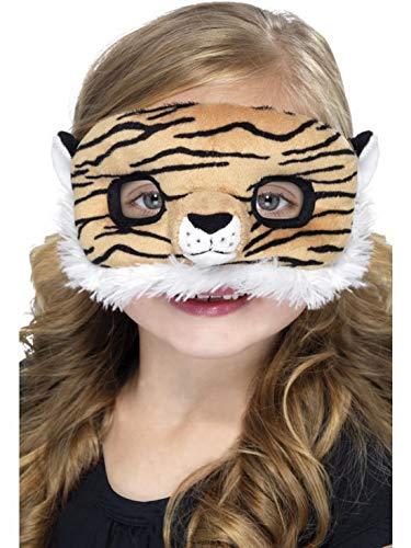 Halloweenia - Kostüm Accessoires Zubehör Kinder Plüsch Tiger Augenmaske Fell, perfekt für Karneval, Fasching und Fastnacht, Braun