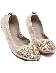 Euro Big Star Flower Rhinestone Flats zapatos de barco