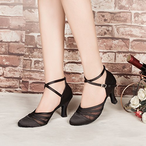 Minitoo ,  Damen Tanzschuhe , Schwarz - schwarz - Größe: 36.5 -