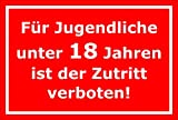 Melis Folienwerkstatt Aufkleber - Jugendliche unter 18-15x10cm - S00080-127-D 20 VAR