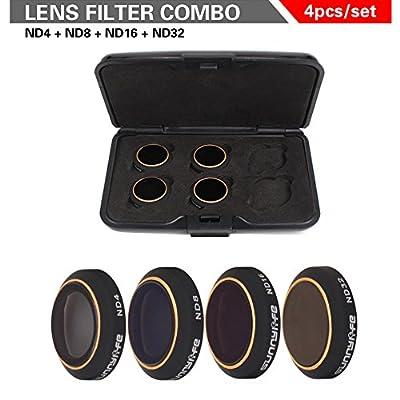 TIME4DEALS DJI Mavic Pro Lens Filter Kit ND4 ND8 ND16 ND32 MCUV CPL, Multi-coated Filter Set