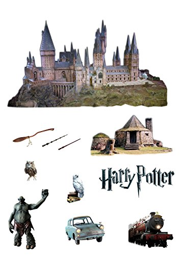 Image of Stand Up Classic Harry Potter Cake Scene Premium Edible Wafer Paper Cake Toppers - Easy to Use
