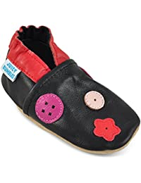 Juicy Bumbles Chaussures Bébé - Chaussons Bébé - Chaussons Cuir Souple - Chaussures Cuir Souple - Chaussures Premiers Pas - Chaussures Bébé Fille Chaussures Bébé Garçon - 0-6 Mois 6-12 Mois 12-18 Mois 18-24 Mois