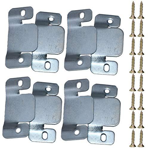 ENET Universal-Metallverbinder für Sofa, Couch und Couch mit 16 Schrauben, 8 Stück -