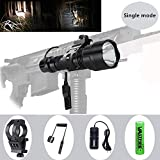 VASTFIRE 150 yard Single Mode Tactical Flashlight 500 Lumen White LED light with Offset Mount Rifle Airsoft AR 15 Shotgun Coyote Hog Pig Varmint Predator Hunting Shooting Tactical Use