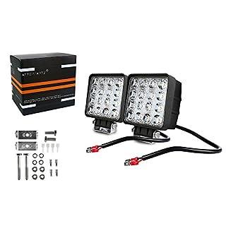 AFTERPARTZ D4 2AFTERPARTZ F1 48W LED Arbeitsscheinwerfer Reflektor Auto Beleuchtung Scheinwerfer Arbeitslicht (Flutlicht), F1 Flut