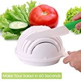 VR SHOPEE 2017 New White Salad Maker Bowl In 60 Second Maker Healthy Fresh Salads Made Easy Salad Vegetable Cutter Creative kitchen Tools