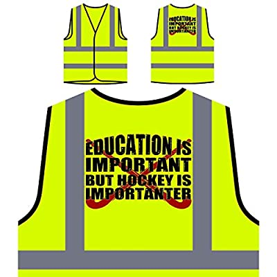 Bildung Hockey wichtig lustig Personalisierte High Visibility Gelbe Sicherheitsjacke Weste v769v