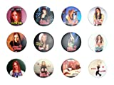 Avril Lavigne (4) Awesome Quality Lot 12 neue Pins Pinback Button Buttons 3,8 cm
