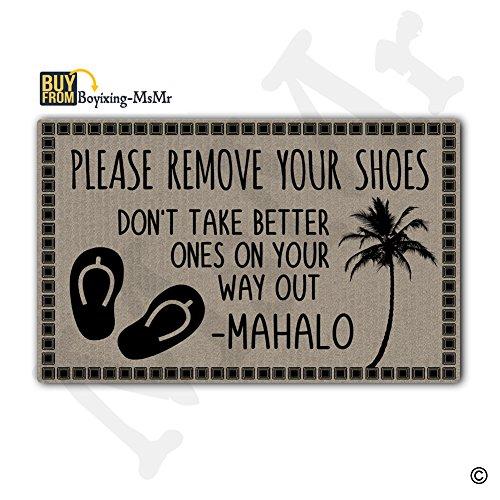 msmr Fußmatte Eingang Fußmatte entfernen Sie bitte Ihre Schuhe nehmen eine bessere Auf nicht Way Out rutschfeste Fußmatte 76,2cm von 45,7cm Maschinenwaschbar Vlies Stoff (Bitte Entfernen Sie Schuhe Tür Matte)