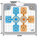 Tapis de danse pour Nintendo Wii - Duo, 1 ou 2 joueurs - Compatible Family Trainer Mat, Dance Dance Revolution