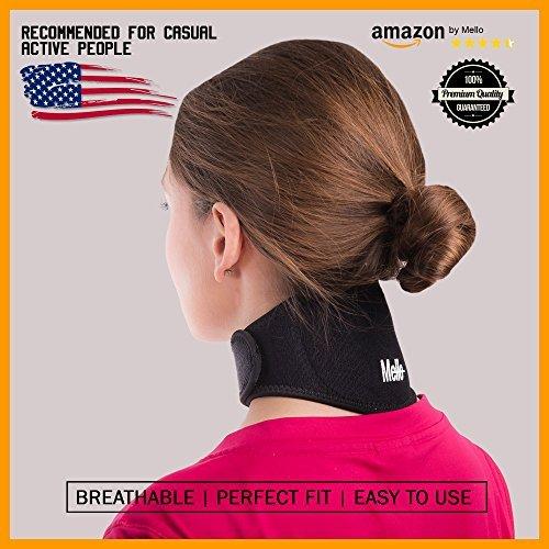 ⭐ Fascia Collo by Mello⭐ - Tutore Rigido per Rigidità cronica del collo – Collare Morbido di Supporto per Cervicale – Terapia Magnetica per Emicrania e Mal di Testa – Comodo per Viaggi in Aereo, in Macchina