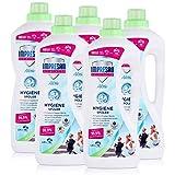 Impresan Hygiene-Spüler Aktiv - 5 x 1,25L - Wäsche-Desinfektion - Desinfektionsspüler - besonders geeignet für Sportkleidung aus Funktionsfasern oder Synthetics - 5 x 15 Waschladungen