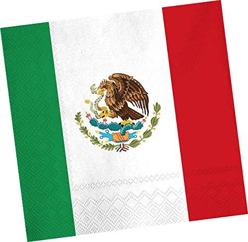 20 Servietten * MEXIKO * für Party und Geburtstag von DH-Konzept // Mexico Mittelamerika Party Set Napkins Papierservietten