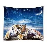 YISUMEI 150x200 cm Tapissery Tagesdecke Strand Decke Hippie Wand Hängende Dekor Fußball Tiger Sterne Mond Himmel