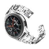 BZLine Für Samsung Galaxy Watch 46 mm   Mode Metall Kristall socken Ersatzband Uhrensocken   Passend für 140-215 mm Handgelenk   Damen Herren   4 Farben