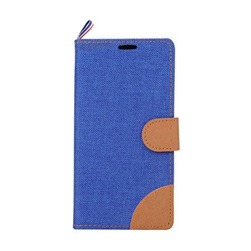 Voguecase® Pour Apple iPhone 6 Plus/6s Plus 5,5 Coque, Etui Housse Cuir Portefeuille Case Cover (my phone 03)de Gratuit stylet l'écran aléatoire universelle Denim-Bleu foncé
