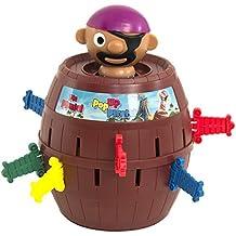 """TOMY Kinderspiel """"Pop Up Pirate"""" - hochwertiges Aktionsspiel für die ganze Familie - Piratenspiel verfeinert die Geschicklichkeit Ihres Kindes - ab 4 Jahre"""