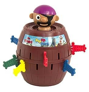 """Tomy Kinderspiel """"Pop Up Pirate"""" – hochwertiges Aktionsspiel für die ganze Familie – Piratenspiel verfeinert die Geschicklichkeit Ihres Kindes – ab 4 Jahre"""