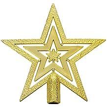 TOOGOO(R) Estrella del arbol de navidad de Decoracion Pendiente estrella de  Cumbre abeto ef845dc8936