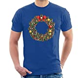Christmas Guardians Of The Galaxy Baby Groot Wreath Men's T-Shirt