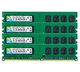 DUOMEIQI 8GB Kit (4 X 2 GB) DDR2 667 MHz UDIMM 2RX8 PC2-5300 PC2-5400 240pin CL5 1.8v Ungepuffert Nicht-ECC Dual Channel Desktop Speicher RAM-Modul für Intel AMD System RAM Notizbuch Arbeitsspeicher Module Upgrade