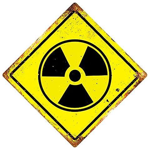 WTF | nucléaire Symbole | Diamant plaque murale en métal Art | avertissement pièce SMall 15x15cm